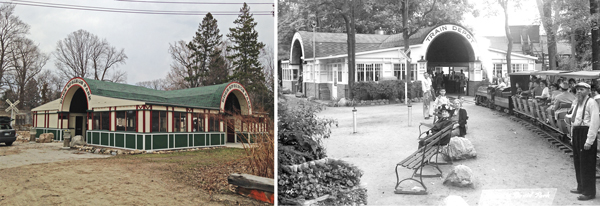 Volunteers have restored the the old depot, one of a few buildings on the property that was reparable.
