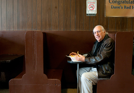 Howard Lopata Sr. with the dog he grew up eating. Hold the ketchup.