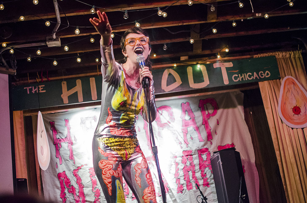 Sarah Sherman is the ringmaster for <i>Helltrap Nightmare</i>, a circus of alternative comedy and music at the Hideout on Saturday 8/26.