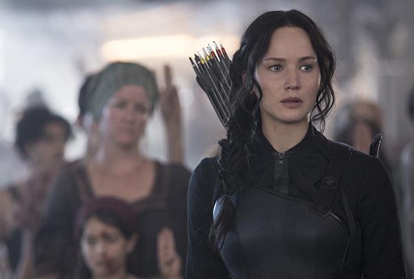 Jennifer Lawrence in The Hunger Games: Mockingjay—Part 1