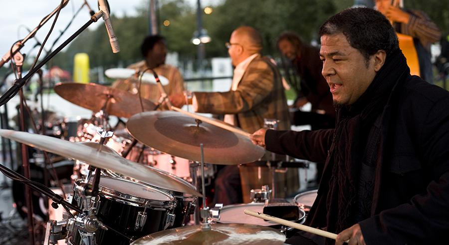 Drummer Ernie Adams at the Hyde Park Jazz Fest