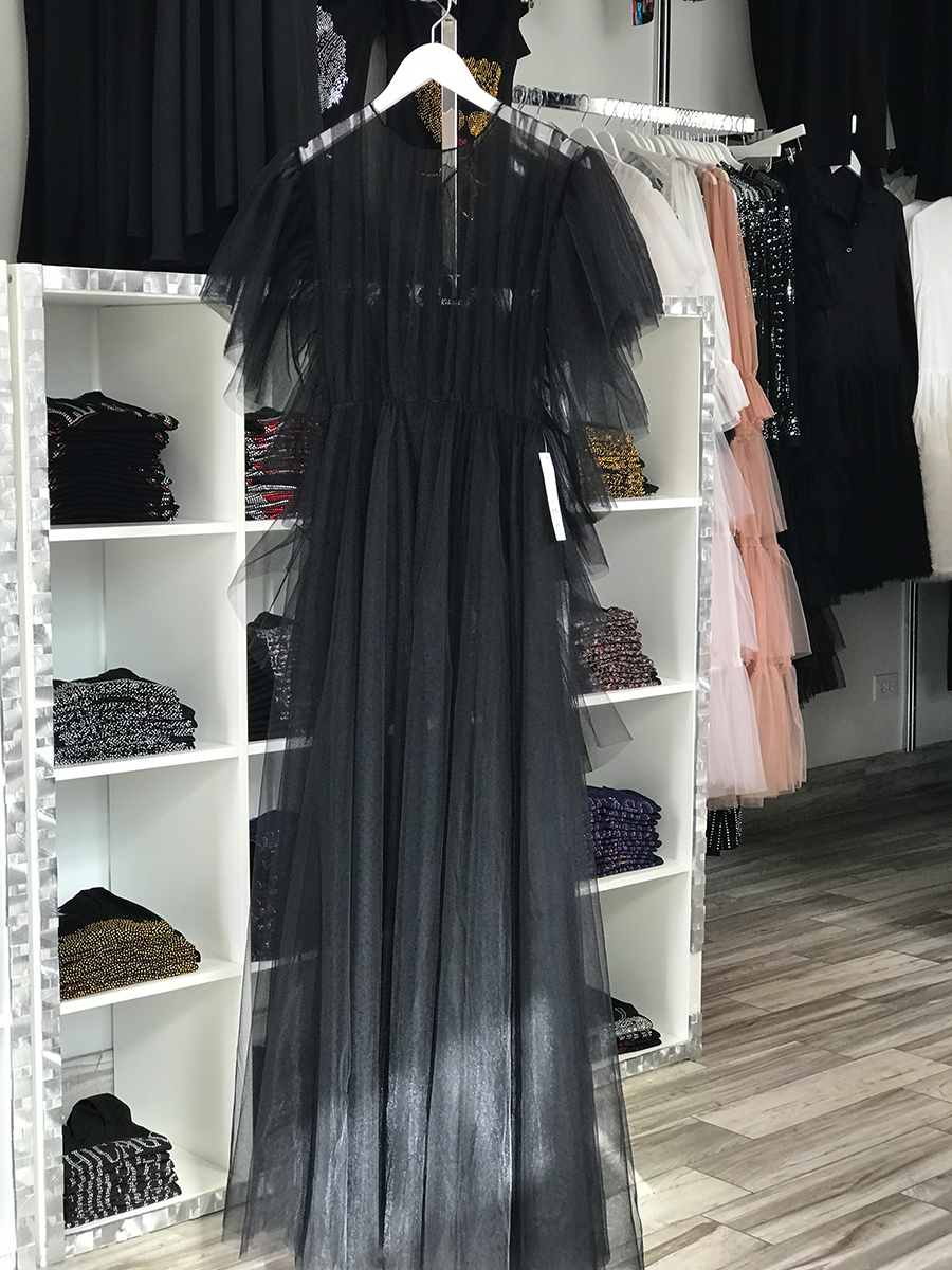 Black tulle dress ($195)
