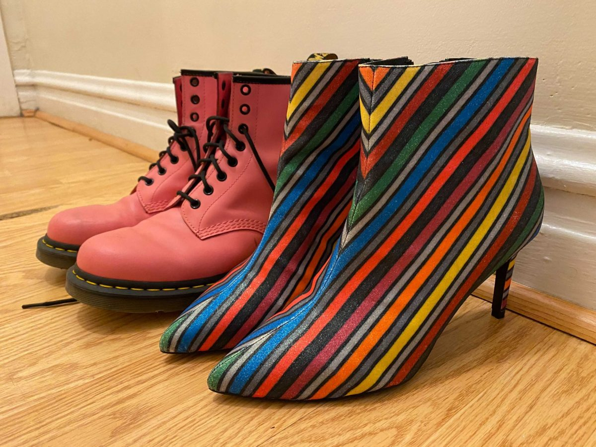 """""""On any given day, I wake up wanting to wear a dress. Or makeup. Or my Doc Martens, of which I have three pairs. Or my hand-painted leather jacket. Or all of them! That's kinda the point."""""""