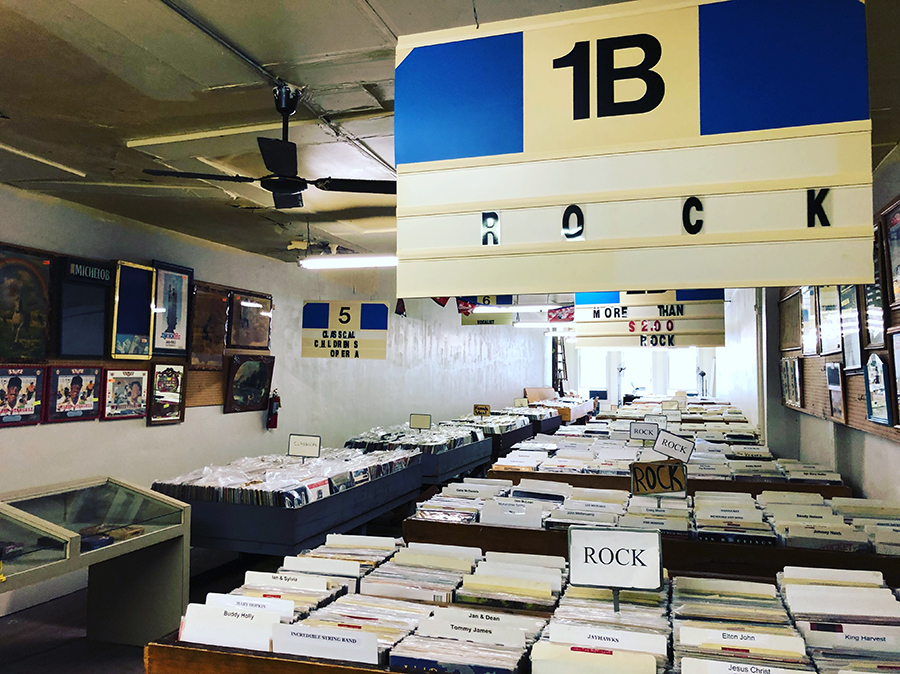 There are an estimated 25,000 to 30,000 vinyl records on the second floor of Recycled Records.