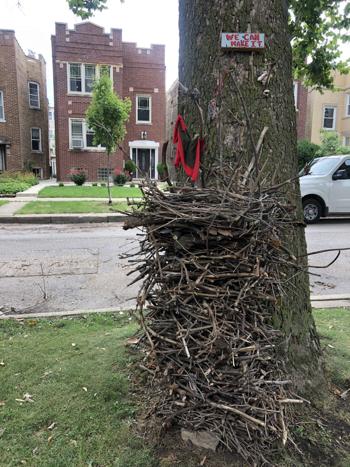 Stick Castle brought neighbors together and offered hope.