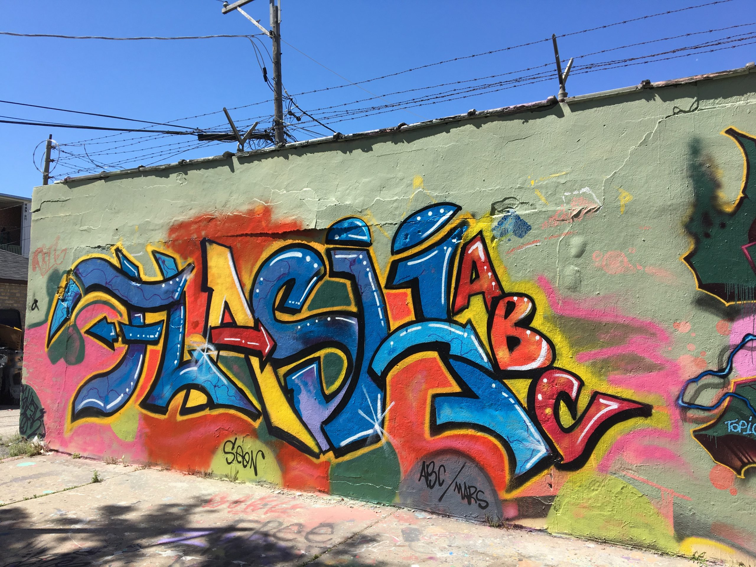 Flash's tag on Project Logan's Medill Avenue section