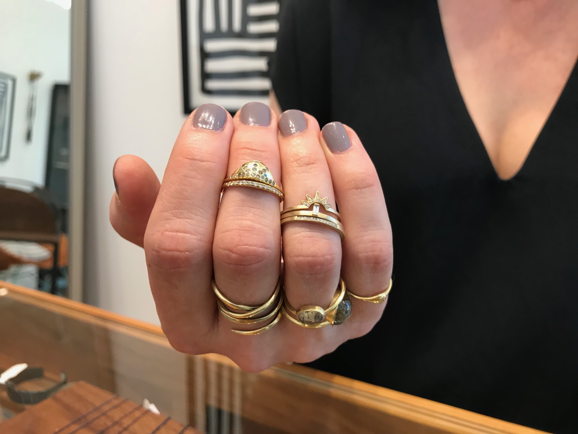 Alternative wedding rings by Diana Mitchell and Carla Caruso