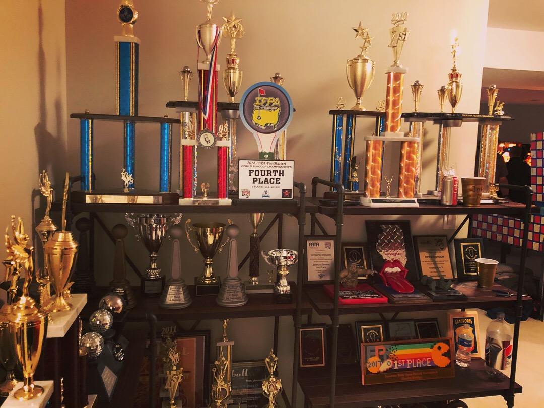 Josh Sharpe's pinball trophy room