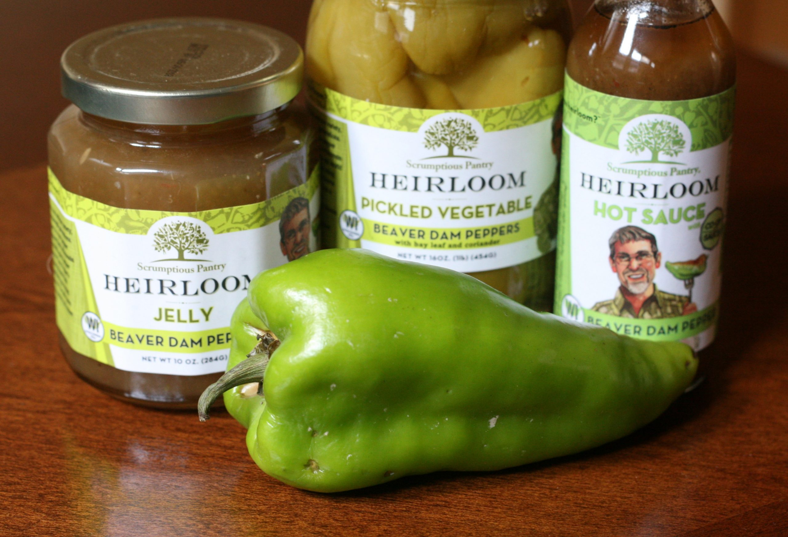 A late-season Beaver Dam pepper with Scrumptious Pantry's Beaver Dam pepper products