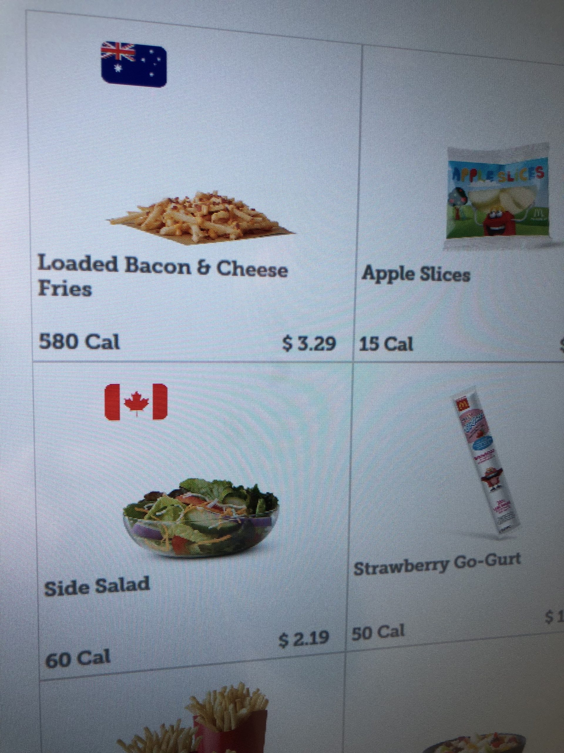 Side salads are . . . Canadian?