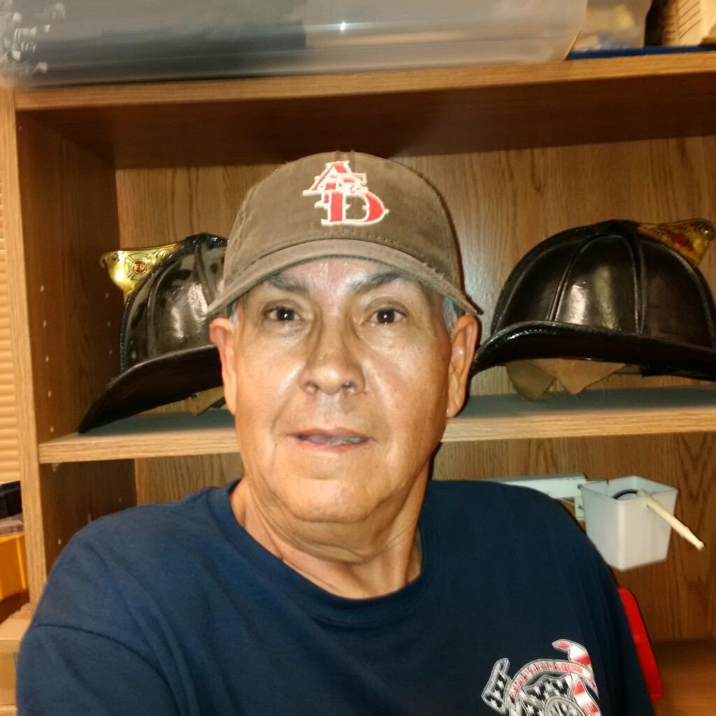 Garcia sporting his Albuquerque Dukes hat