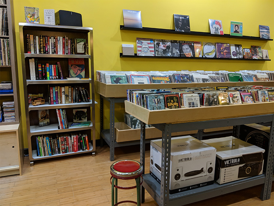 Some of the books on offer