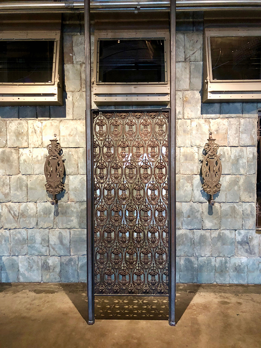Elevator grille and balusters from Sullivan's Guaranty Building in Buffalo, New York