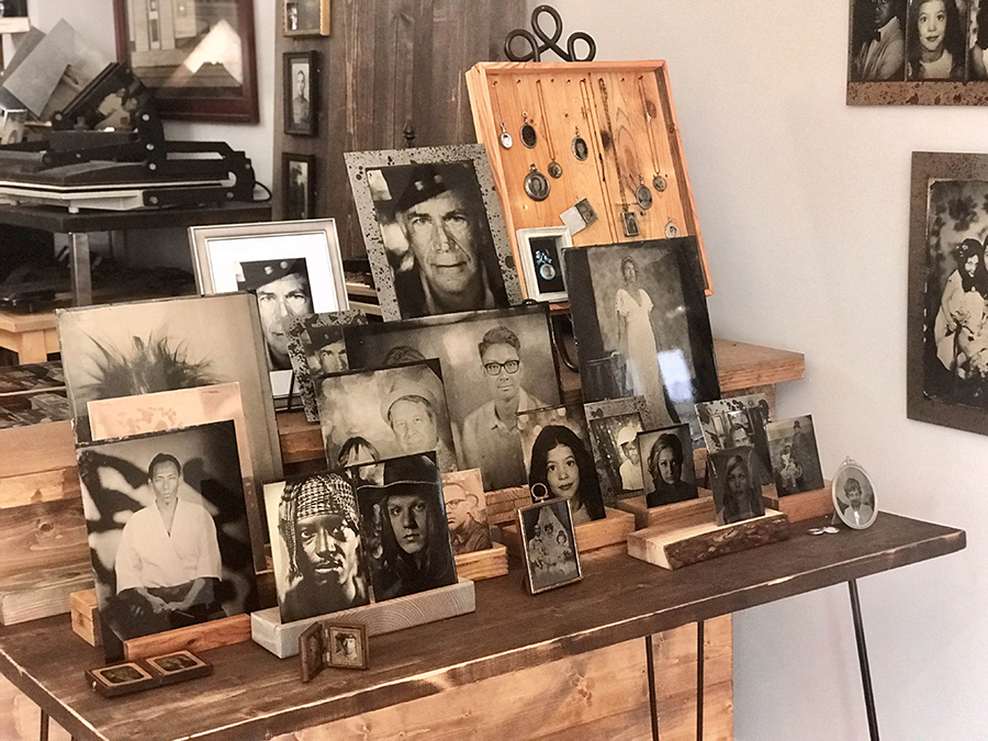 A selection of contemporary tintypes