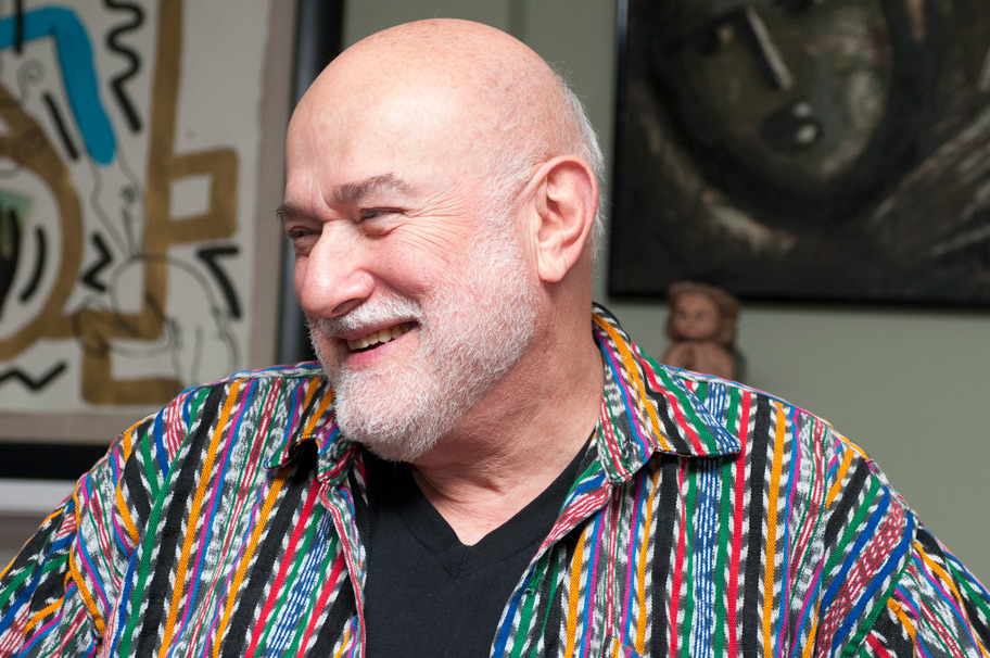 Irving Zucker in his home, 2015.