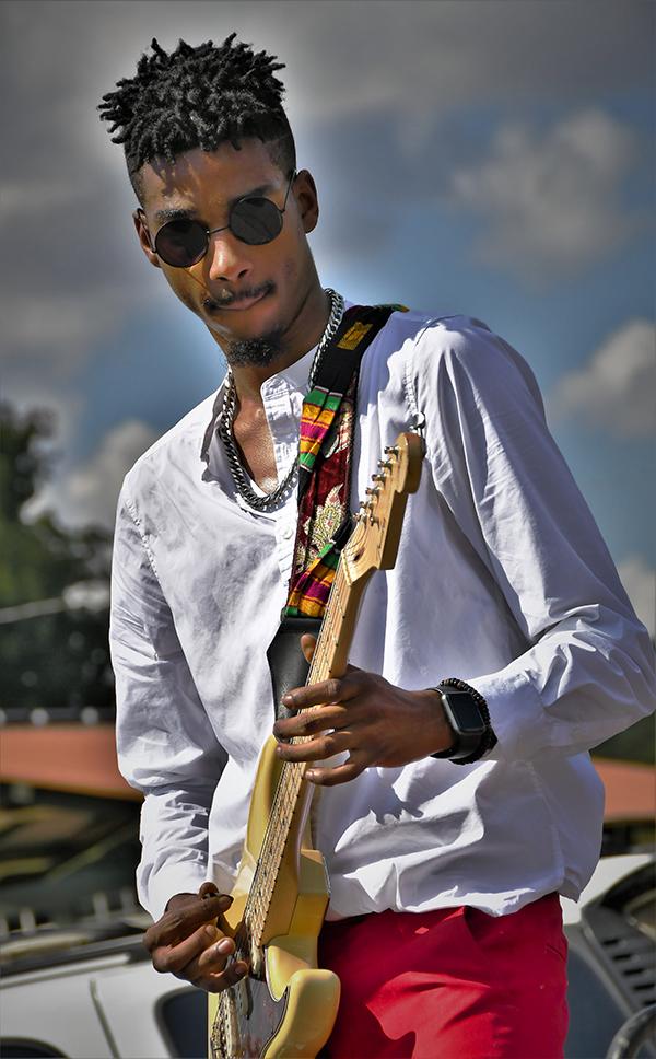 Twenty-four-year-old bluesman Jamiah Rogers has been playing guitar since age nine.