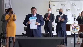 """Repeal of the HIV criminalization law was one of four bills Governor J.B. Pritzker signed on July 27 that he says """"advance Illinoisans' ability to live their fullest lives as their truest selves."""""""