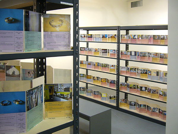 Jennifer Dalton, <i>The Reappraisal</i>, 2009, archival photographic prints in acrylic frames on wood and metal shelves