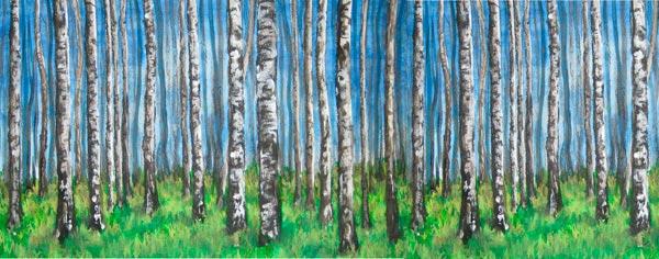 Detail of <em>Let's Bring the Birch Trees Back to Rogers Park</em>