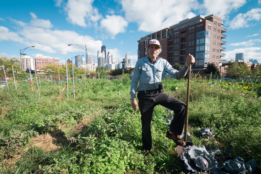 """""""It was very hard to pay a living wage and pay the mortgage on the property,"""" City Farm founder Ken Dunn says of his previous attempt to own land."""