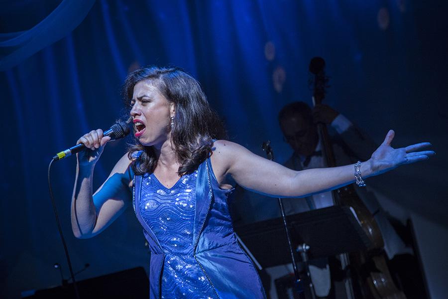Sandra Delgado in Teatro Vista's <i>La Havana Madrid</i>, at the Goodman Theatre