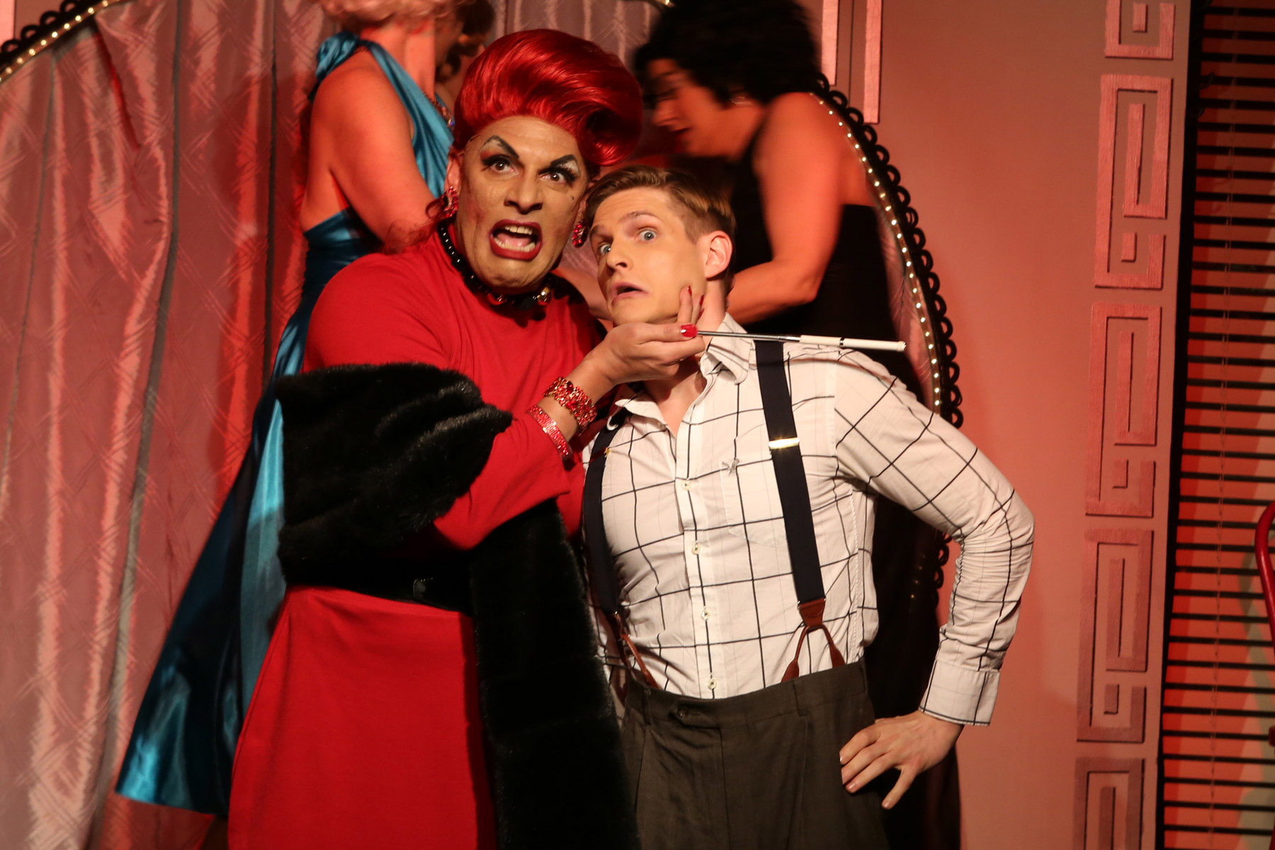 David Cerda and Chazie Bly in Hell in a Handbag's <i>Lady X: The Musical</i>