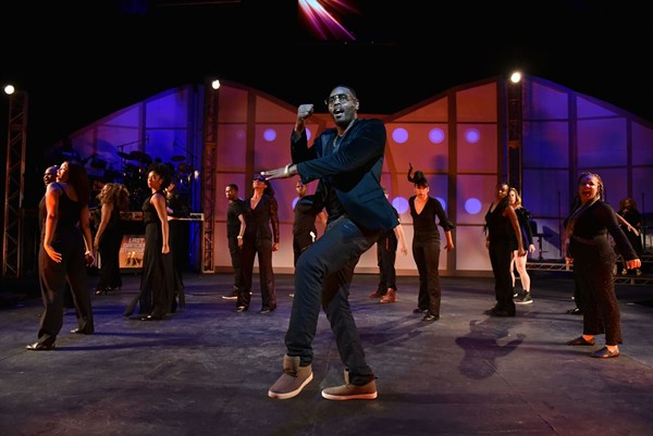 Deverin Deonte and cast in Black Ensemble Theatre's <i>Last Dancer Standing (More Than Hip-Hop)</i>