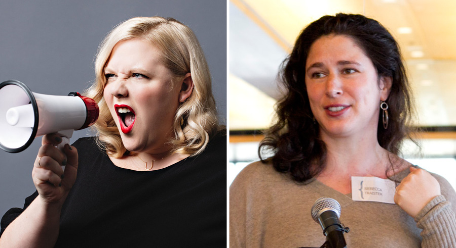 Lindy West and Rebecca Traister