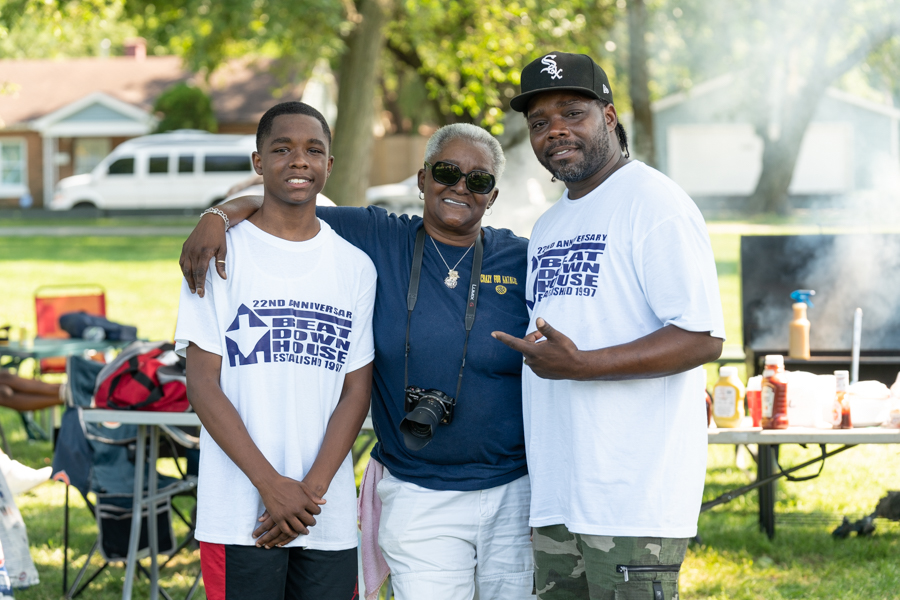 Three generations of DJs: DJ Clent with his 14-year-old son, DJ Corey, and his mother, Natalie Hill, who started it all in the 70s as DJ Chocolate Star