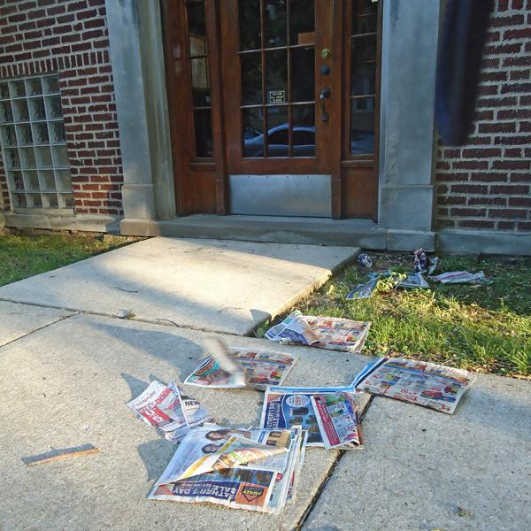 Not Mike Miner's actual doorstep