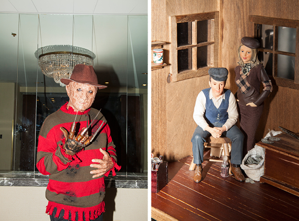 The requisite Freddy Krueger sighting; part of a Bonnie and Clyde display