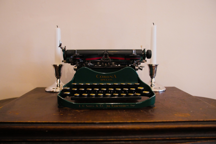 One of Kowal's antique typewriters