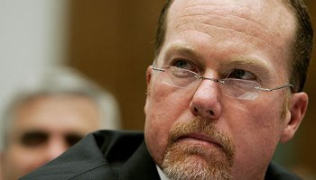 Mark McGwire testifying before a House committee in 2005