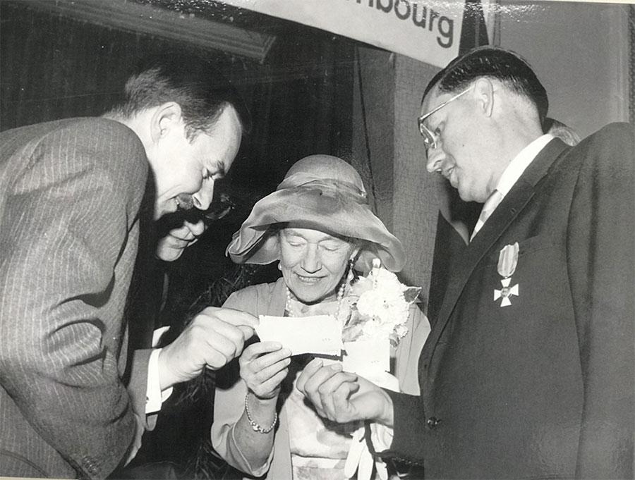 Michael Martin Leider (right) meets Grand Duchess Charlotte in 1941.