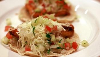Fish tacos at Mixteco Grill