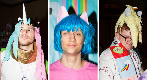 Bronies at the convention were a distinct (but vocal) minority.