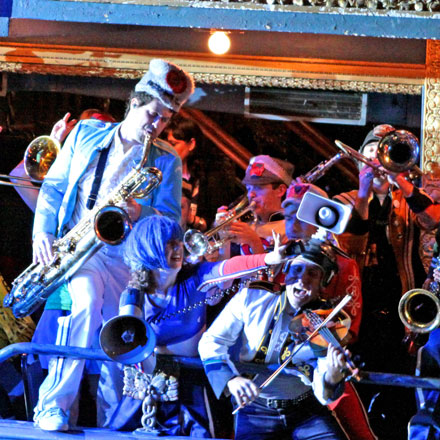 """Nothing better than a """"schizophrenic marching band"""" (in Mucca Pazza) to help the digestive system"""
