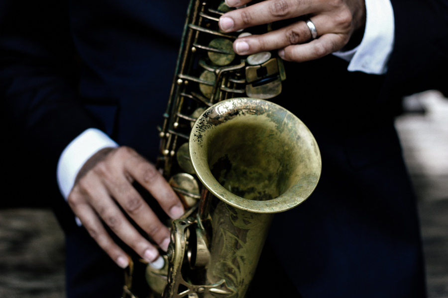 Ward's first alto saxophone was a horn his father happened to have in a closet at home.