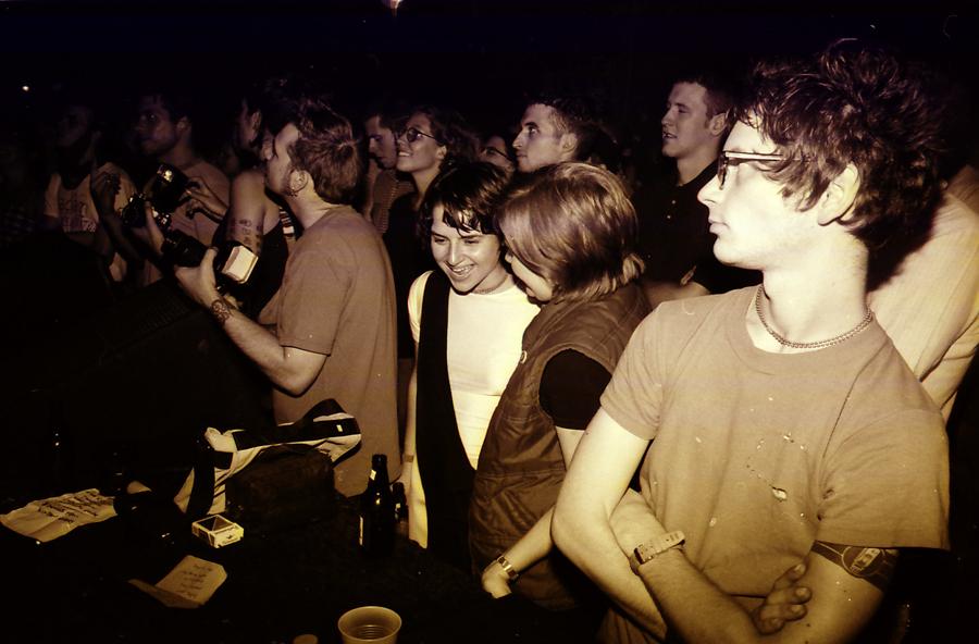 Brian Case (far right), circa late 90s, at the Empty Bottle