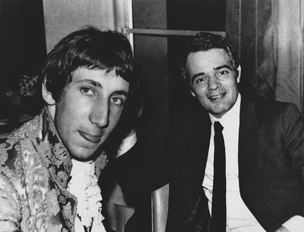 Pete Townshend and Kit Lambert in 1967