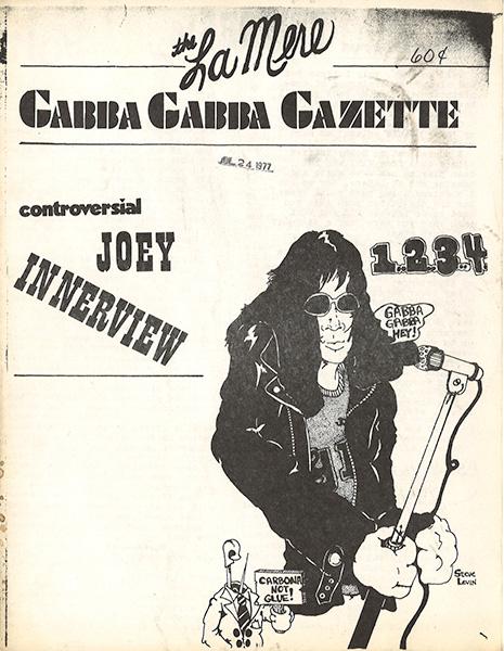 Chicago punk zine <i>The Gabba Gabba Gazette</i> ran an interview with Joey Ramone in 1977.