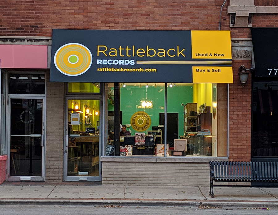 The Rattleback Records storefront