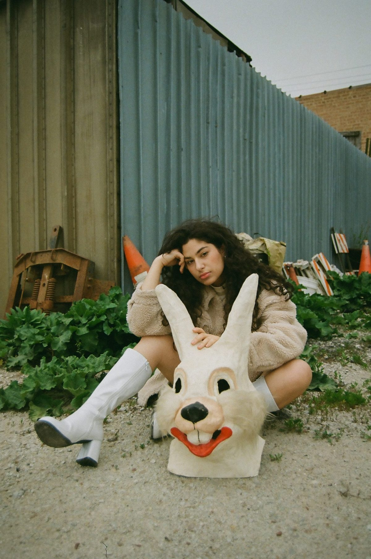 """Alex Banin found this papier-mâché bunny head, which appears on the cover of Did I Imagine (and in the video for """"Forget About It""""), at Rogers Park vintage store Lost Eras."""