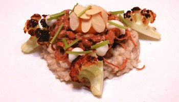 """Horchata rice with natto and """"flavors of cauliflower"""""""