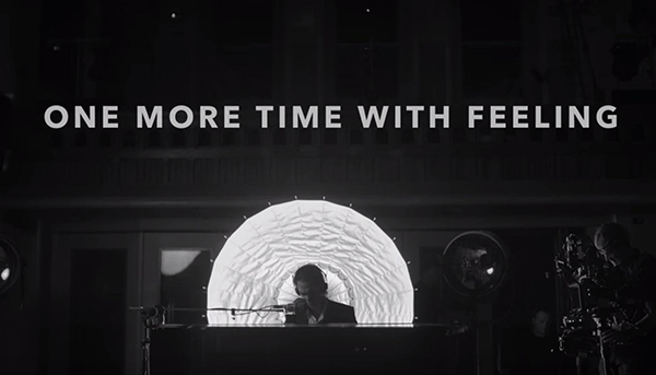 A still from the trailer for the Nick Cave documentary <i>One More Time With Feeling</i>