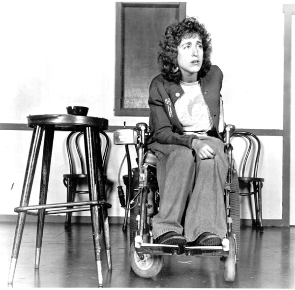 Nussbaum at rehearsal for her first play, <i>Staring Back,</i> which was picked up by Second City E.T.C. in 1983.