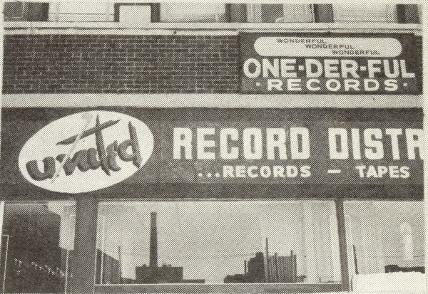 The facade of the One-derful Records building