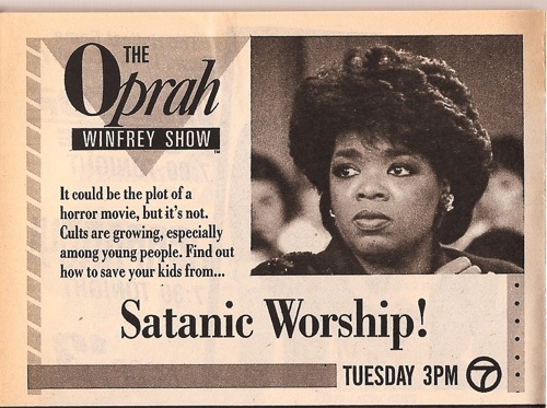 """Even Oprah fanned the flames of the """"satanic panic"""" hysteria."""
