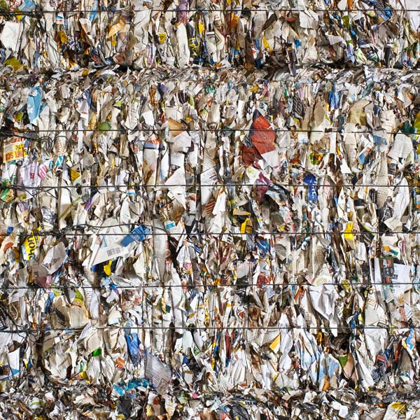 What looks like trash—a huge heap of wastepaper at FutureMark, a mill in Alsip, Illinois—is actually a valuable commodity. Just ask China.