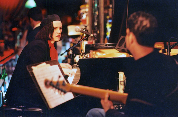 Patricia Barber with Blue Note label mate Charlie Hunter c. 1999